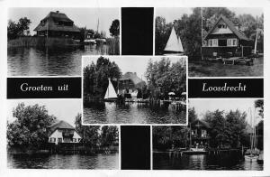 Netherlands Groeten uit Loosdrecht Kiosk Loosdrecht River Boats Postcard