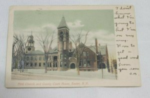 First Church and County Court House Exeter NH c1906 UDB Vintage Postcard