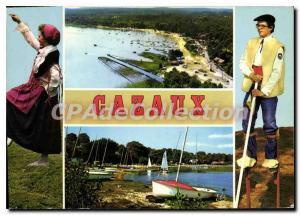 Postcard Modern Cazaux View Aerienne The Beach