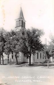Clements MN St Joseph's Roman Catholic Church~RPPC c1934