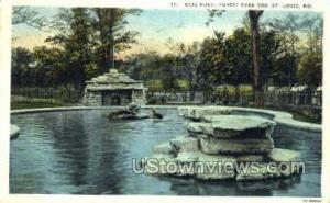 Seal Pond, Forest Park St. Louis MO 1929 Missing Stamp