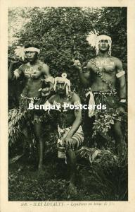 Loyalty Islands, New Caledonia, Armed Native Loyaltians in Party Dress (1920s)