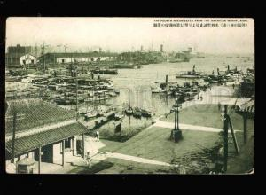 026744 JAPAN KOBE 4 breakwater from american wharf Vintage PC