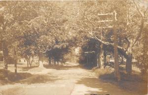 Dublin Kansas~A Village Street Scene~Houses & Trees~Vintage Real Photo Postcard