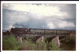 Canadian National Railway Train, Arriving Winnipeg, Manitoba, Bridge