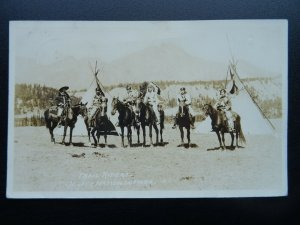 Canadian Trail Riders JASPER NATIONAL PARK c1920s RP Postcard C.N. Railways