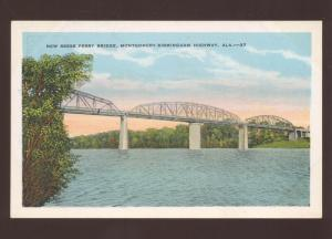 BIRMINGHAM HIGHWAY ALABAMA MONTGOMERY FERRY BRIDGE VINTAGE POSTCARD