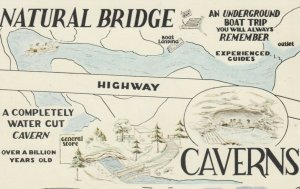 NEW YORK, 1950-60s; Historical Natural Bridge Caverns, located on Route # 3