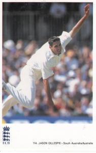 Jason Gillespie Australia Australian Cricketer Cricket Postcard