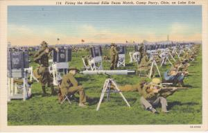 CAMP PERRY, Ohio; Firing the National Rifle Team Match on Lake Erie, 30-40s