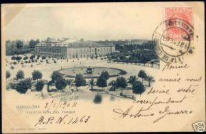 spain, BARCELONA, Palacio Real del Parque (1904) Stamp