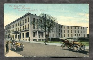 dc169 - MADISON Wis 1910s Walter J Hodges Co Hotel