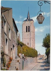 BEAUGENCY, Le Clocher St-Firmin et la Rue de l'Eveche, 1973 used Postcard