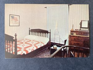 Robt. Lincoln's Room Lincoln's Home Springfield IL Chrome Postcard H1164090822