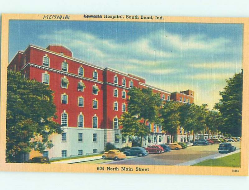 Unused Linen HOSPITAL SCENE South Bend Indiana IN W2835