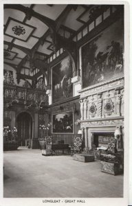 Wiltshire Postcard - Longleat - Great Hall - Real Photograph - Ref ZZ5475