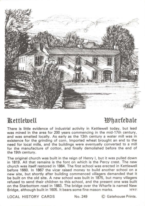 Postcard Local History Card Kettlewell, Wharfedale Yorkshire by Gatehouse Prints
