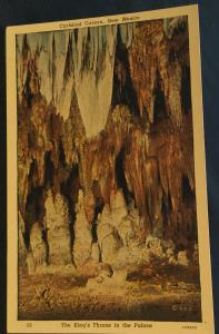 Linen Postcard Unused Carlsbad Caverns NM LB