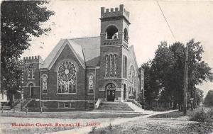 Illinois Il Postcard c1920s RANTOUL Methodist Church Building