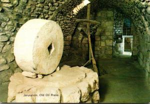 Israel Jerusalem Old Olive Oil Press