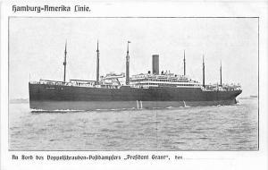 5539 S.S. President Grant , Hamburg-Amerika Linie