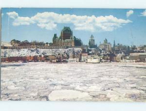 Pre-1980 TOWN VIEW SCENE Quebec City QC p9586