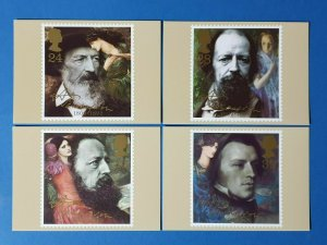 Set of 4 PHQ Stamp Postcard Set No.142 Centenary of Death Lord Tennyson 1992 BV8