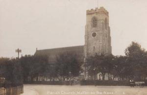 Walton On The Naze Church Real Photo Antique Postcard