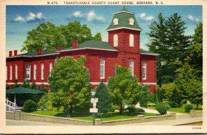 North Carolina Brevard Transylvania County Court House  1960