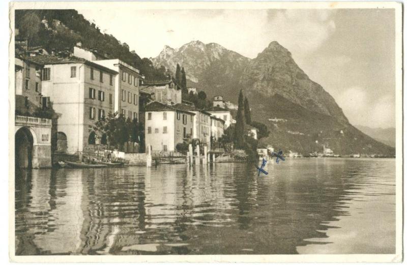 Switzerland, ORIA e Pizzo di Cressogno, Lago di Lugano, unused Postcard