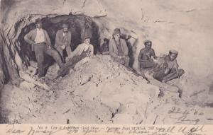 South African Suburban Gold Mine Hammer Boys Miners Antique Postcard