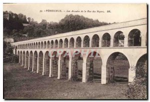 Old Postcard Perigueux The Arcades of the Rue des Noyers