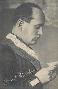 Duke Benito Mussolini Printed Signature G. Ballerini & C. Editori Firenze Italia