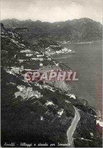 Modern Postcard Amalfi Villaggi e strada per Sorrento