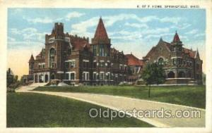 Springfield, Ohio, USA  Fraternal, Postcard Post Card  Springfield, Ohio, USA