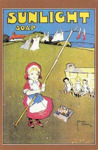 Nostalgia Postcard Sunlight Soap Advertising Promotional Poster Repro Card NS1