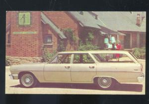 1964 CHEVROLET CHEVELLE 300 STATION WAGON CAR DEALER ADVERTISING POSTCARDCHEVY