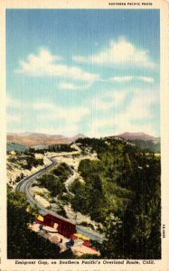 California Sierras Emigrant Gap On Southern Pacific's Overland Route Cur...