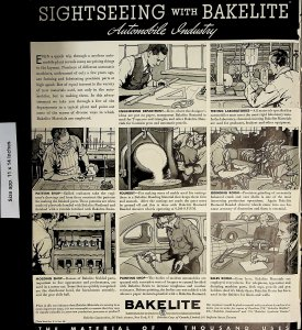 1937 Sightseeing with Bakelite Automobile Industry Comic Vintage Print Ad 5900