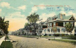 Wheeling WV Big Homes @ The Corner of Woodlawn & Dirt St Maple Ave~Postcard 1911