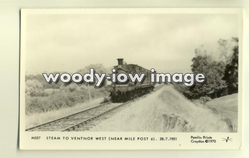 pp1725 - Isle of Wight Steam Train to Ventnor West in 1951 - Pamlin postcard
