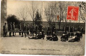 CPA Stenay - 18e Batallion de Chasseurs - Ecole des Brancardiers (240839)