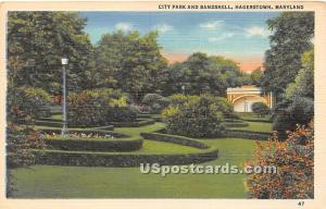 City Park & Bandshell Hagerstown MD 1951