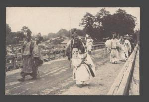 086132 JAPAN FESTIVAL in KYOTO SAMURAI Vintage real photo PC