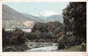 Colorado City~View of Pikes Peak~Creek~Detroit Pub Co #5282~1909 Postcard