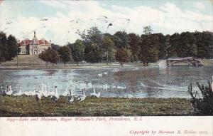 Lake And Museum Roger William's Park Rhode Island 1911