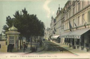 france, ROYAN, l'Hotel de Bordeaux et le Boulevard Thiers (1910s) LL