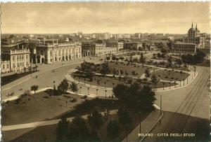 Italy, Milano, Citta Degli Studi, 1940s unused Postcard