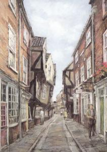 The Shambles York Giant Painting Postcard