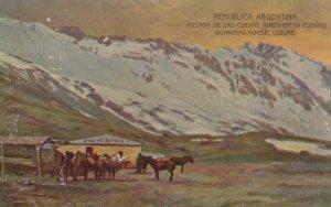 Argentina Cuevas Boarding House Postcard
